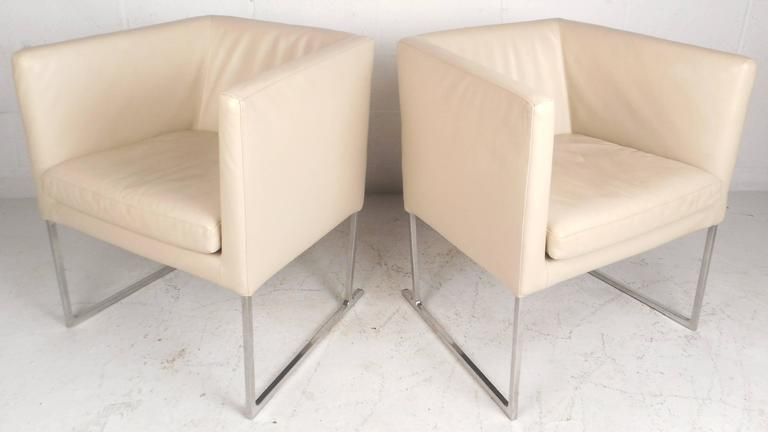 Superb Mid Century Modern Style Cube Lounge Chairs By Antonio Machost Co Dining Chair Design Ideas Machostcouk