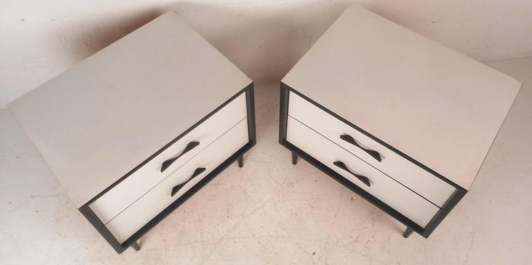 Mid Century Modern White Laminate Nightstands For Sale At