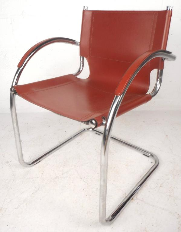 Pleasant Set Of Unique Mid Century Modern Leather And Chrome Camellatalisay Diy Chair Ideas Camellatalisaycom