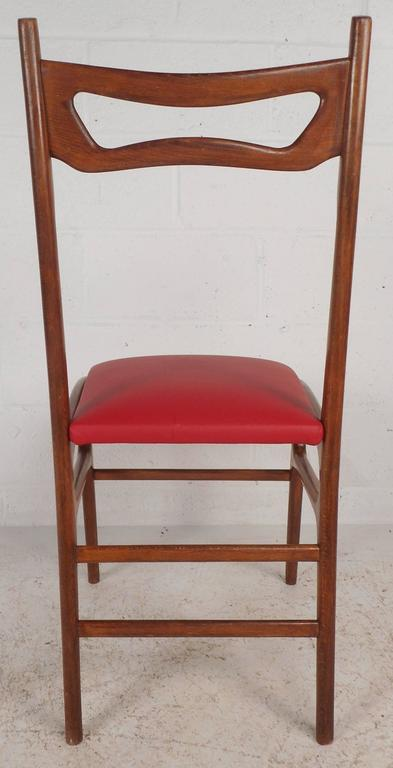 Set of Mid-Century Modern Italian Dining Chairs For Sale 1