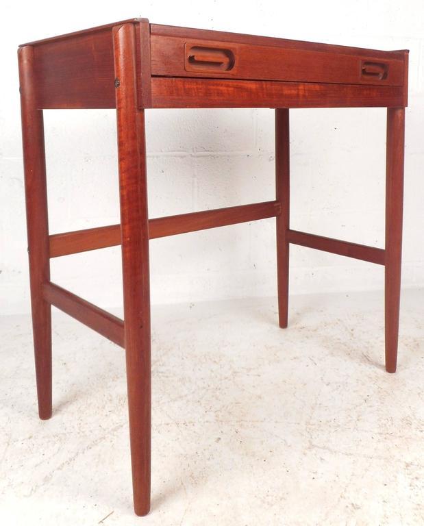Late 20th Century Mid-Century Modern Danish Teak Vanity For Sale