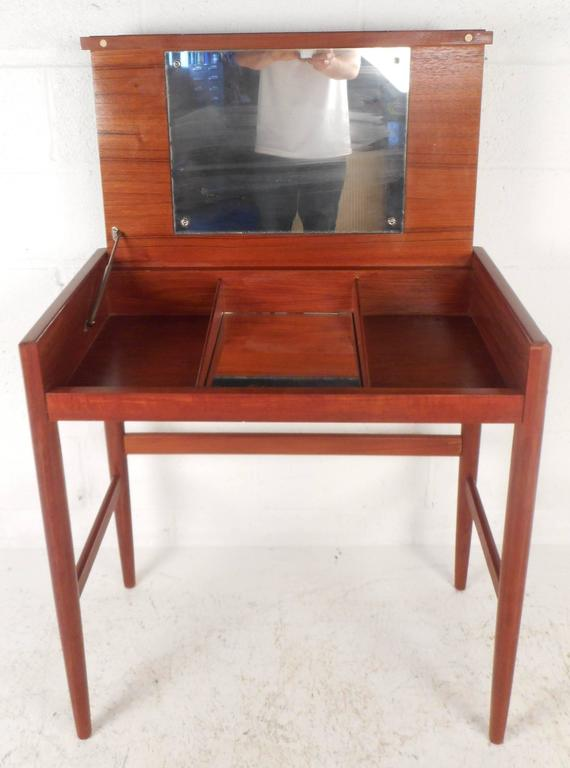 Mid-Century Modern Danish Teak Vanity For Sale 1