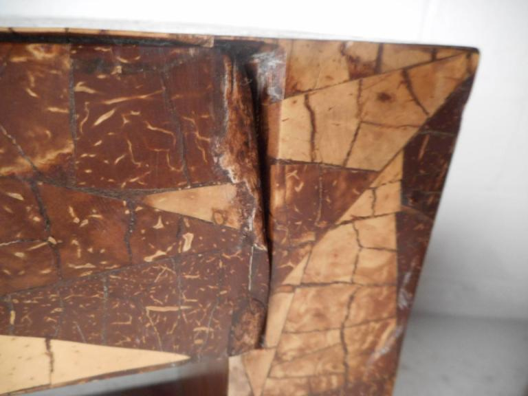 Mid-Century Modern Augousti Style Coconut Shell Inlay End Tables For Sale 6