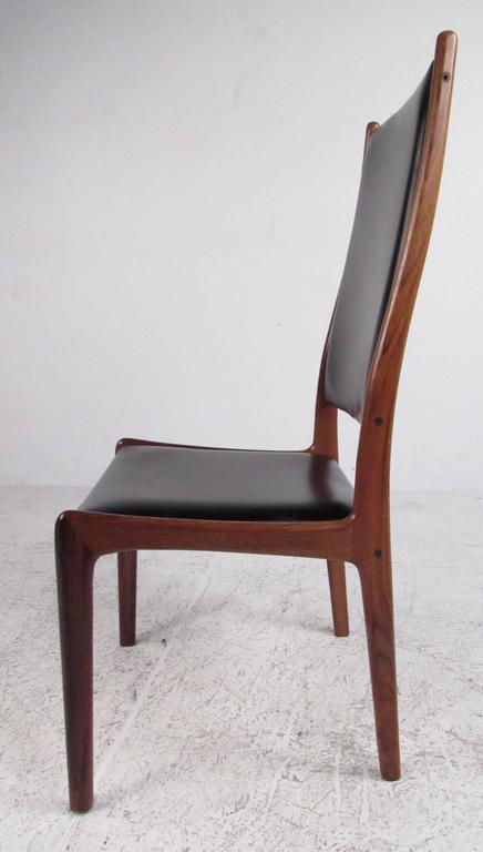 Scandinavian Modern Danish Modern Rosewood High Back Dining Chairs By  Johannes Andersen For Sale