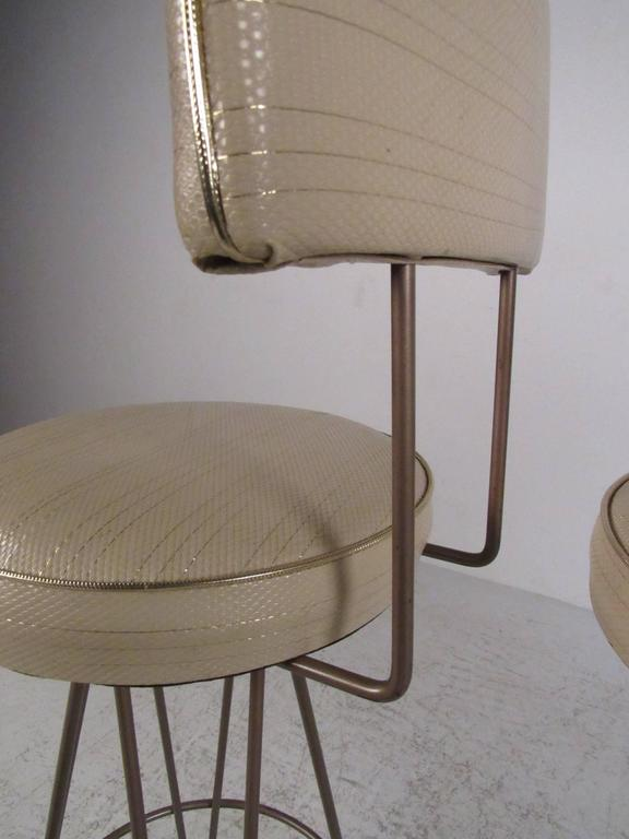 Frederick Weinberg Style Hairpin Swivel Bar Stools At 1stdibs