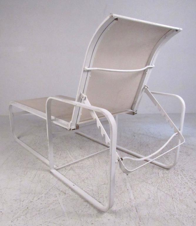 American Pair of Woodard Patio Recliner Chaise Lounge Chairs For Sale
