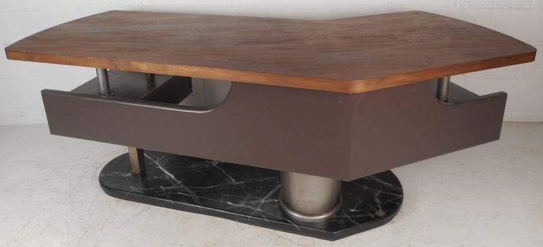 Formica Impressive Modern Executive Desk  For Sale