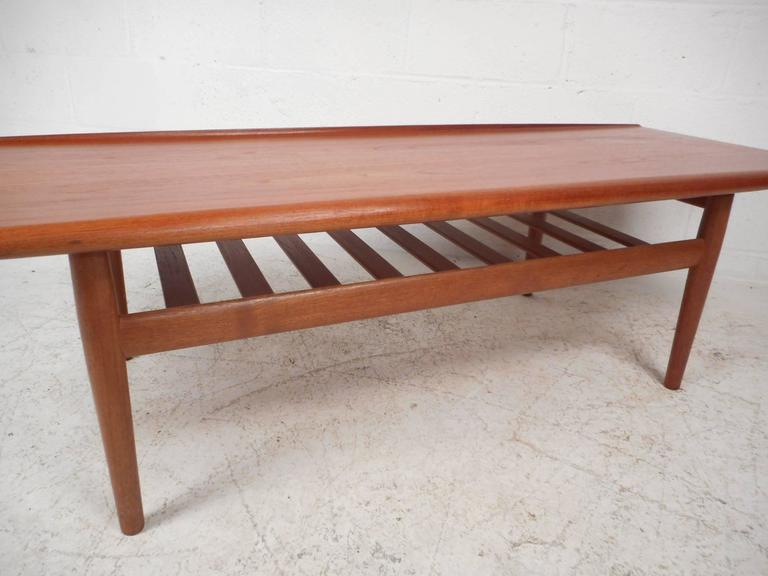 Late 20th Century Mid-Century Modern Newly Refinished Walnut Coffee Table For Sale