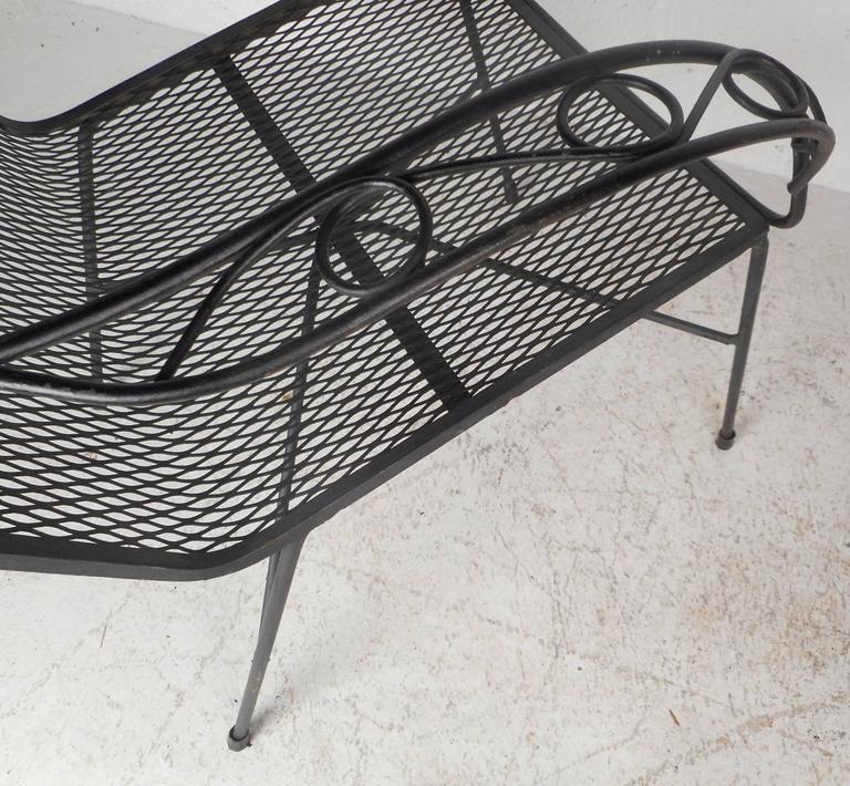 Mid Century Outdoor Furniture: Mid-Century Modern Style Wrought Iron Patio Chairs At 1stdibs