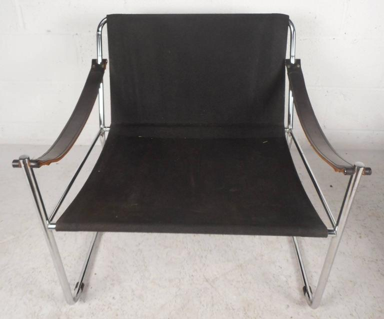Unique Mid Century Modern Safari Style Lounge Chairs With