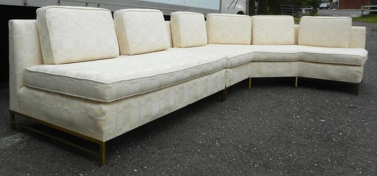 North American Impressive Two-Piece Mid-Century Modern Sofa by Paul McCobb for Directional For Sale