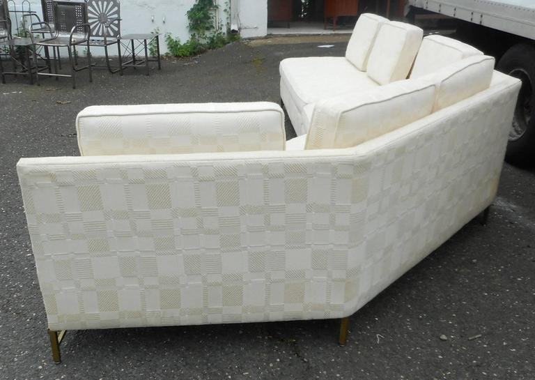 Impressive Two-Piece Mid-Century Modern Sofa by Paul McCobb for Directional In Good Condition For Sale In Brooklyn, NY