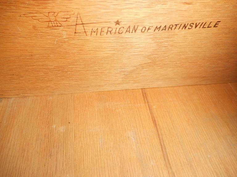 Impressive Mid-Century Modern Bedroom Set by American of Martinsville For Sale 3