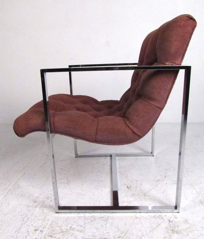 Mid-Century Modern Pair of Mid-Century Milo Baughman Style Lounge Chairs For Sale
