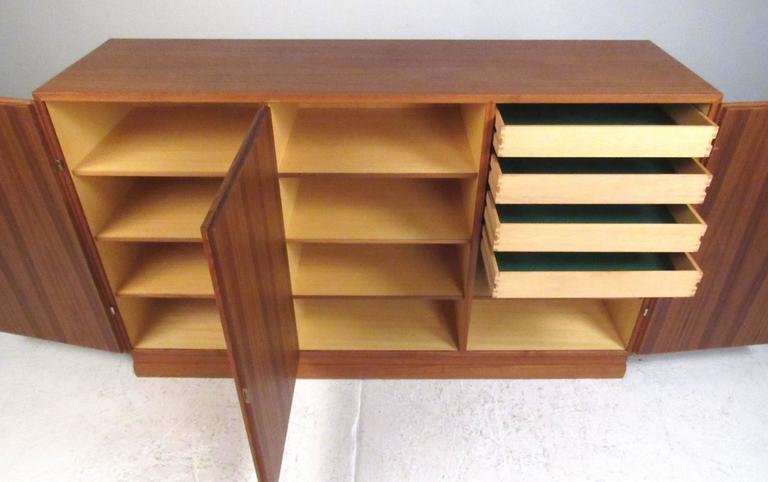 Danish Scandinavian Modern Teak Storage Cabinet For Sale