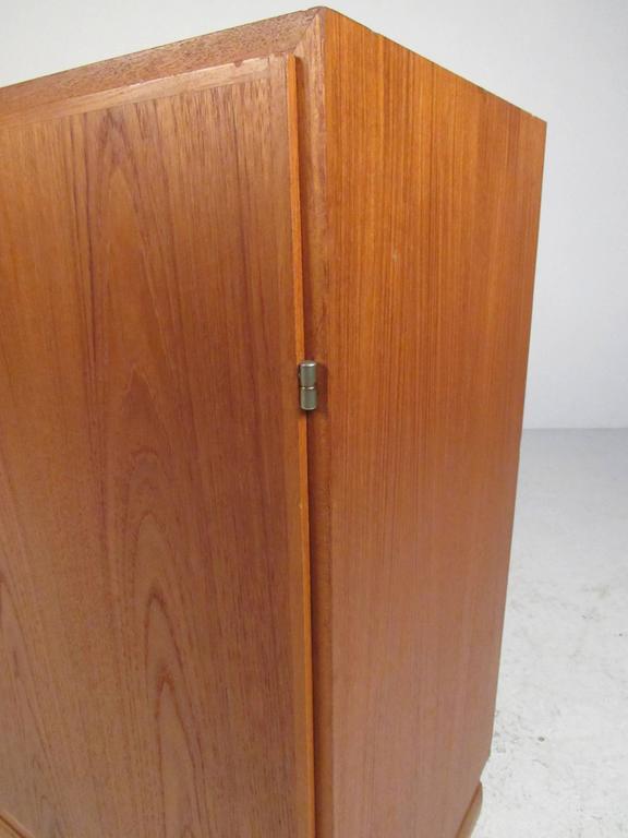 20th Century Scandinavian Modern Teak Storage Cabinet For Sale
