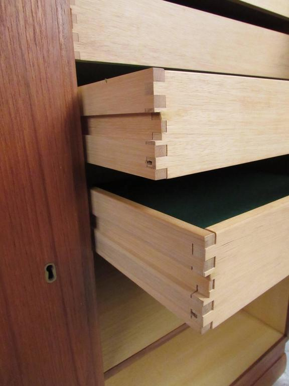 Scandinavian Modern Teak Storage Cabinet For Sale 2