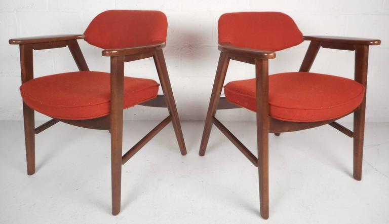 Swedish Pair of Scandinavian Modern Arm Chairs For Sale