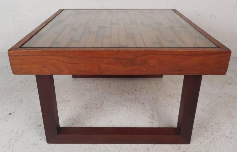 Mid century modern brazilian multi level glass top end table by percival lafer for sale at 1stdibs - Brazilian mid century modern furniture ...