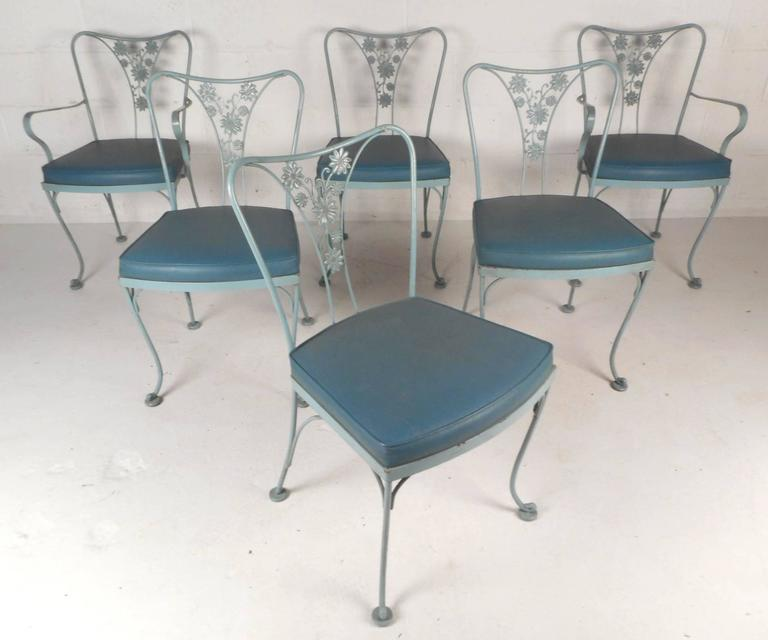 Amazing Mid Century Modern Sculpted Wrought Iron Patio Set By Russell Woodard At 1stdibs