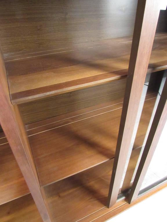 American Vintage Walnut China Cabinet or Bookcase For Sale