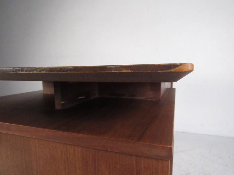 American walnut floating top desk by hooker for sale at for Floating desk for sale