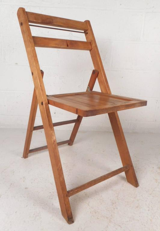 Mid Century Modern Vintage Modern Folding Chairs For Sale