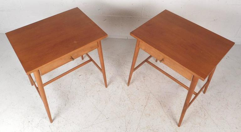 Pair of Mid-Century Modern End Tables by Paul McCobb for Planner Group In Good Condition For Sale In Brooklyn, NY