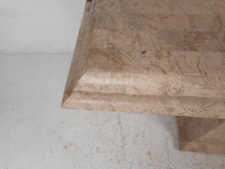 Amazing Mid-Century Modern Maitland-Smith Style Tessellated Stone Console Table For Sale 3