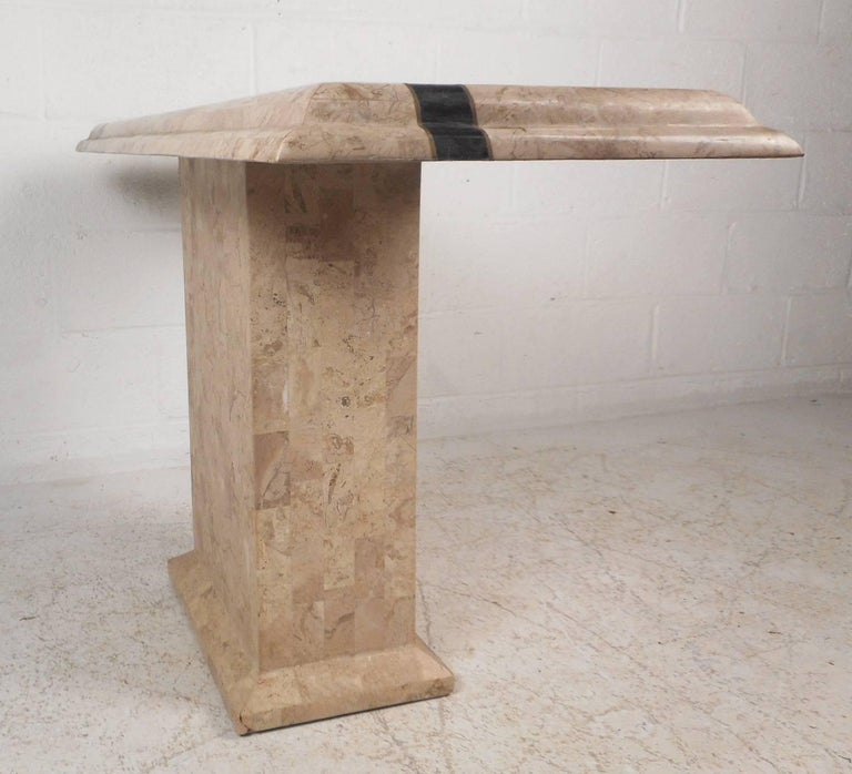 Amazing Mid-Century Modern Maitland-Smith Style Tessellated Stone Console Table For Sale 2
