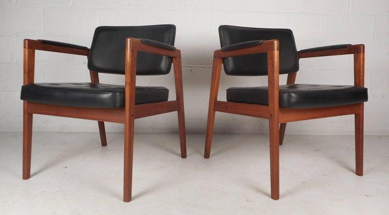 Pair Of Mid Century Modern Svegards Markaryd Leather And