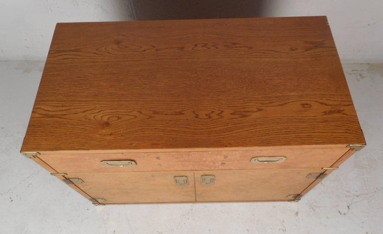 Mid Century Modern Burl Campaign Chest For Sale At 1stdibs