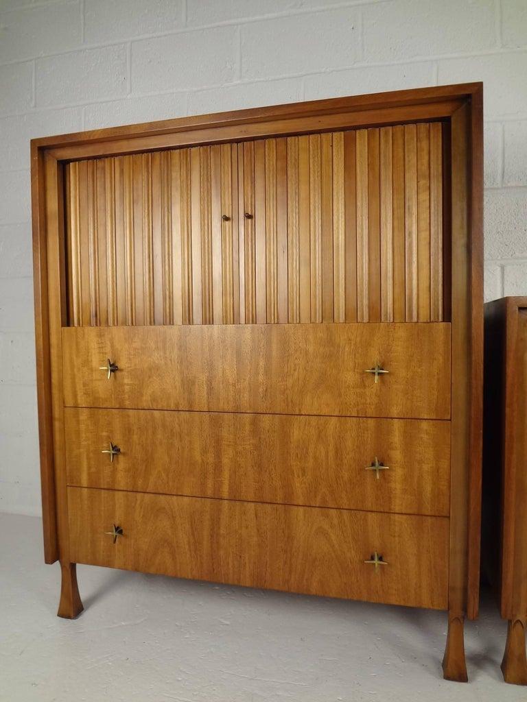 American Mid-Century Modern Dresser and High Boy by John Widdicomb For Sale