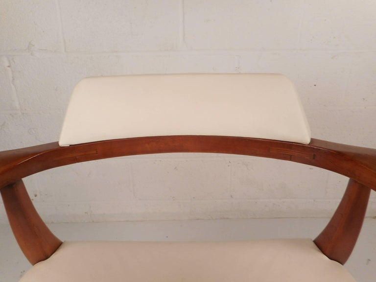 Unique Mid-Century Modern Occasional Armchair For Sale 1