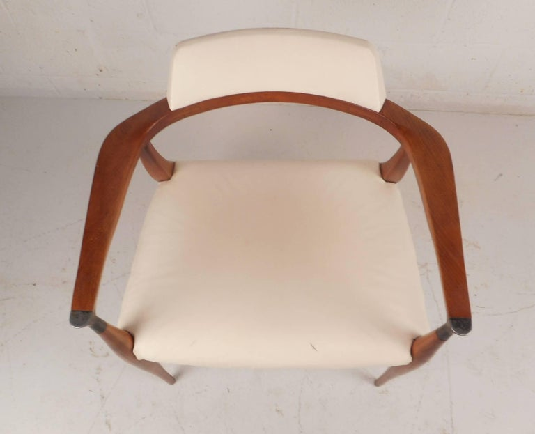 Late 20th Century Unique Mid-Century Modern Occasional Armchair For Sale
