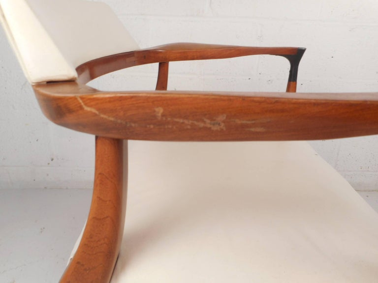 Unique Mid-Century Modern Occasional Armchair For Sale 2