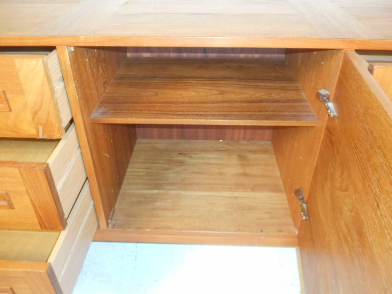 Late 20th Century Large Mid-Century Modern Danish Teak Credenza For Sale
