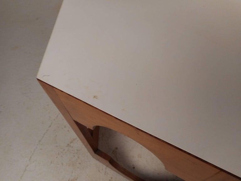 Pair of Mid-Century Modern Italian Hexagonal End Tables For Sale 2