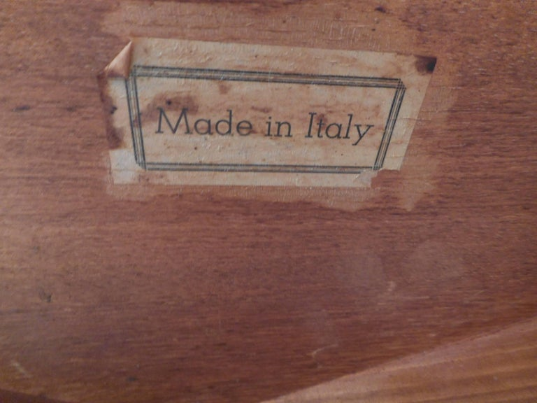 Pair of Mid-Century Modern Italian Hexagonal End Tables For Sale 4