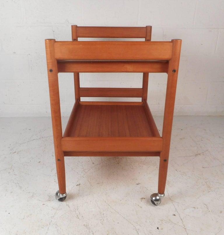 Late 20th Century Mid-Century Modern Teak Bar Cart For Sale