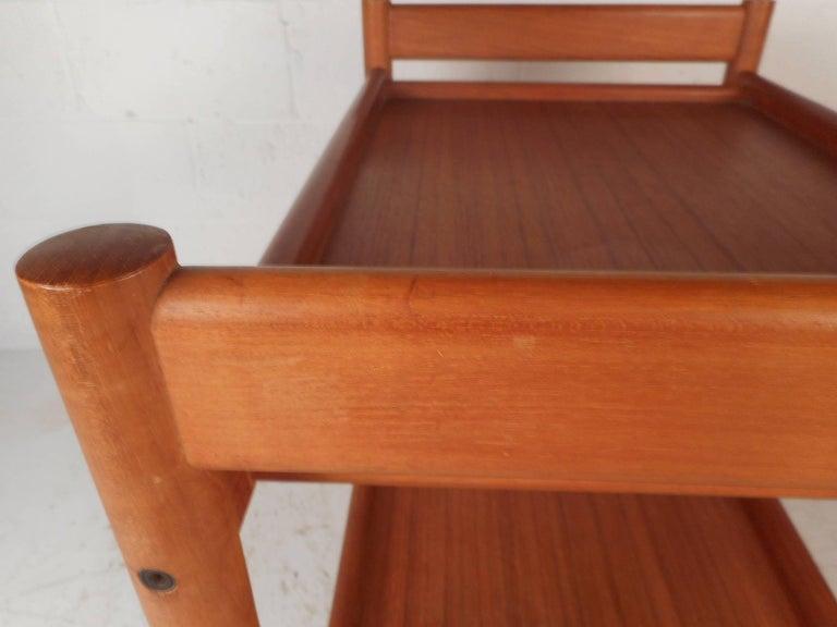 Mid-Century Modern Teak Bar Cart For Sale 1