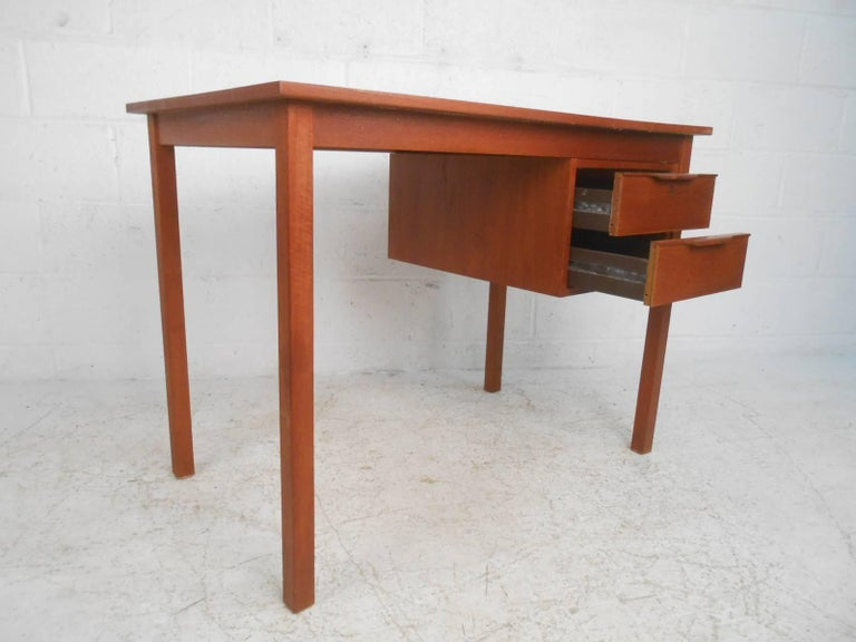 Mid-Century Modern Danish Teak Desk For Sale 1