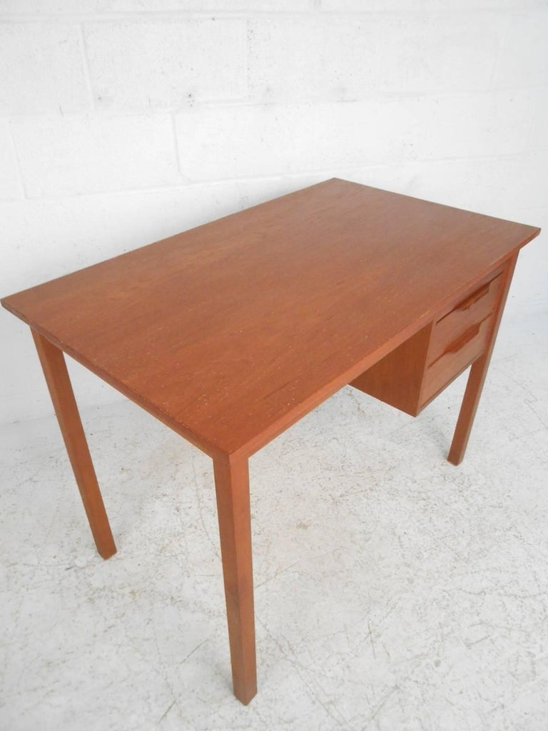 Late 20th Century Mid-Century Modern Danish Teak Desk For Sale