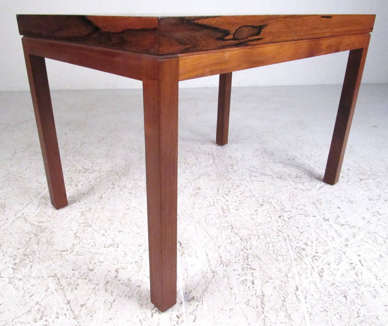 American Milo Baughman for Thayer Coggin Rosewood Side Table For Sale