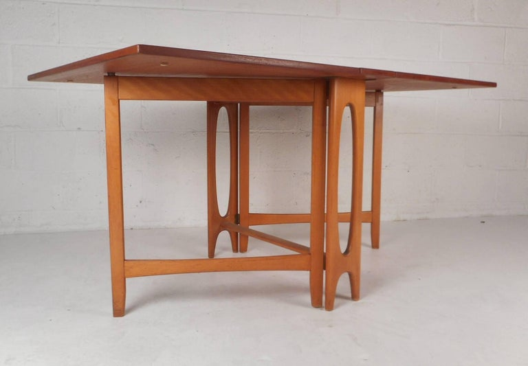 Beautiful MidCentury Modern DropLeaf Gate Leg Dining Table At Stdibs - Mid century modern gateleg table