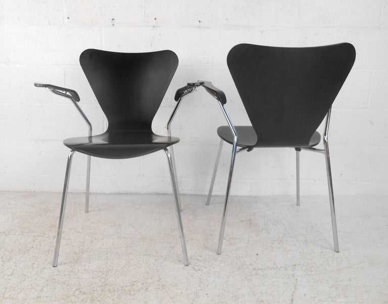 Late 20th Century Set of Three Mid-Century Modern Italian Chairs For Sale
