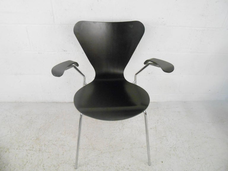 Chrome Set of Three Mid-Century Modern Italian Chairs For Sale