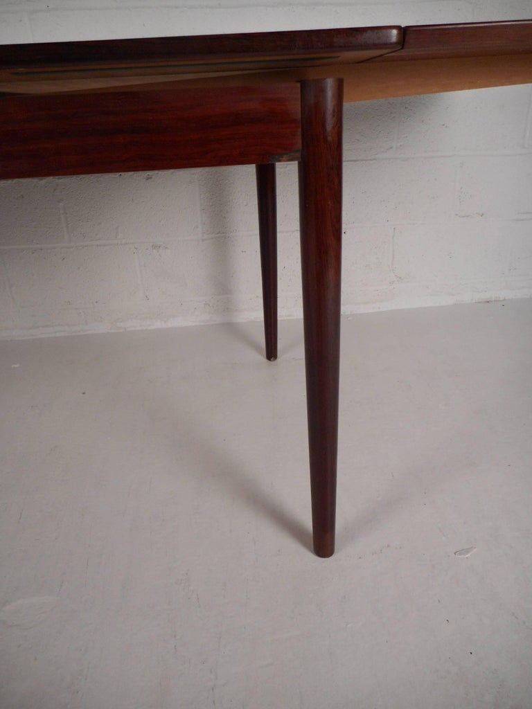 Late 20th Century Mid-Century Modern Rosewood Draw Leaf Dining Table by Edmund Jorgensen For Sale
