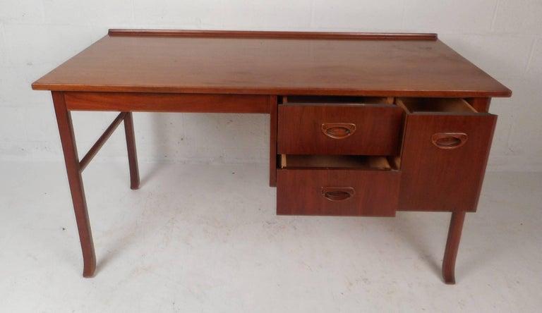 Mid-Century Modern Danish Teak Desk 5