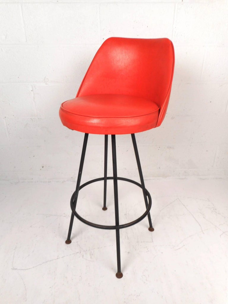 Set Of Four Mid Century Modern Bar Stools By Admiral